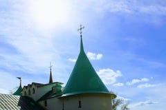 ` 9月, 16 2017年,图拉,俄罗斯-国际军事和历史节日` Kulikovo领域:东正教 免版税库存照片