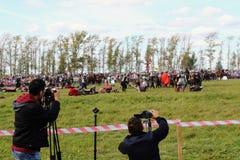 ` 9月, 16 2017年,图拉,俄罗斯-国际军事和历史节日` Kulikovo领域:观察者和参加者 免版税库存照片