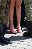 7月2005俄国军队的战士 免版税库存照片