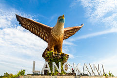 2017年2月-凌家卫岛,马来西亚-老鹰正方形 库存图片