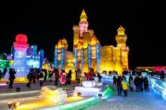 2015年1月-哈尔滨,中国-国际冰和雪节日 免版税库存照片