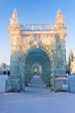 2013年2月-哈尔滨,中国-国际冰和雪节日 库存图片