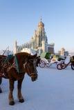 2013年2月-哈尔滨,中国-国际冰和雪节日 免版税库存图片
