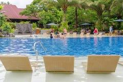 7月15,2017在别墅escudero,拉古纳, Philippin的游泳池 免版税图库摄影