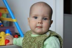 10月婴孩的画象 免版税库存照片