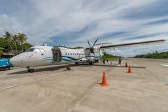 10月6,2017工程师准备对离开在E L 托尔德西里亚斯空气 免版税库存图片
