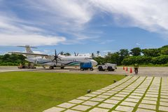 10月6,2017工程师准备对离开在E L 托尔德西里亚斯空气 库存照片