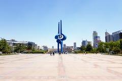 5月2016年-济南,中国-泉城广场 免版税图库摄影