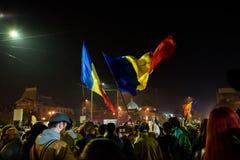 11月2015抗议在布加勒斯特 免版税图库摄影