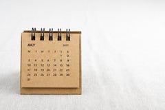 7月 排进日程与拷贝空间的板料在右边 免版税库存图片