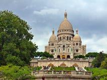 Sacre巴黎市Motmartre区Coeur。 免版税库存图片