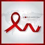 12月1日世界援助天构思设计传染媒介例证 免版税库存图片