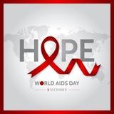12月1日世界援助天构思设计传染媒介例证 库存图片