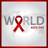 12月1日世界援助天构思设计传染媒介例证 图库摄影