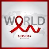 12月1日世界援助天构思设计传染媒介例证 免版税图库摄影
