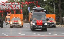 10月29日共和国土耳其的天庆祝 免版税库存图片