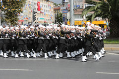 10月29日共和国土耳其的天庆祝 免版税库存照片