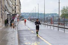 2015年3月3日和谐马拉松在日内瓦 瑞士 库存照片