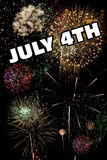 7月4日和除夕假日烟花显示 免版税库存照片