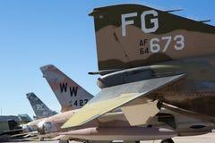 2016年12月6日图森,美国:飞机排队在pima空气 免版税库存图片