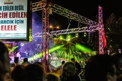 8月30日土耳其胜利天音乐会 库存照片