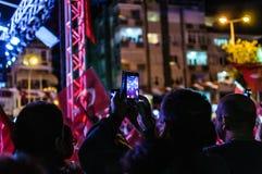 8月30日土耳其胜利天音乐会 免版税库存图片