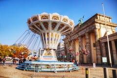 3月18日在勃兰登堡门附近的广场在柏林,德国 免版税库存照片