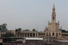 2015年5月13日在圣所法蒂玛-葡萄牙的宗教庆祝 库存照片