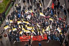 11月4日在莫斯科,俄罗斯。俄语3月 免版税图库摄影