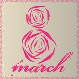 3月8日妇女的天 库存图片