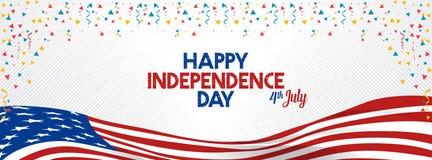 7月4日愉快的独立日团结了状态美国 免版税库存照片