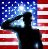 7月4日或退伍军人日例证 免版税库存照片