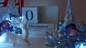 12月3日日期阻拦出现日历 影视素材