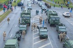 11月18日独立游行在拉脱维亚 免版税库存照片
