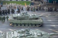 11月18日独立游行在拉脱维亚 库存照片