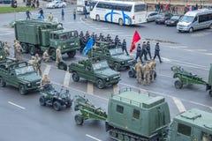 11月18日独立游行在拉脱维亚 免版税库存图片