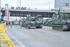 11月18日独立游行在拉脱维亚 图库摄影