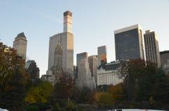 2014年11月10日的中央公园在曼哈顿,纽约,美国 免版税库存照片