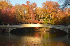 2014年11月15日的中央公园在曼哈顿,纽约,美国 免版税库存照片