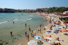 2015年7月19日的城市海滩在索佐波尔镇,保加利亚 库存照片