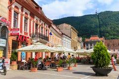 2014年7月15日的委员会正方形在布拉索夫,罗马尼亚 免版税图库摄影