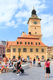 2014年7月15日的委员会正方形在布拉索夫,罗马尼亚 免版税库存图片
