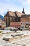 2014年7月15日的委员会正方形在布拉索夫,罗马尼亚 库存图片