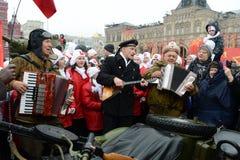 11月7日的庆祝在红场在莫斯科 库存照片