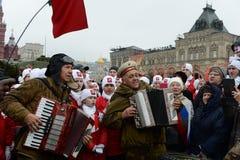 11月7日的庆祝在红场在莫斯科 库存图片