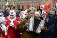 11月7日的庆祝在红场在莫斯科 免版税库存图片
