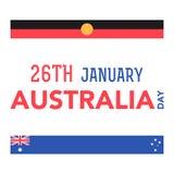 1月26日的澳大利亚天 库存照片