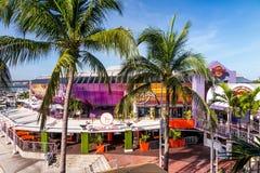 2014年8月7日的硬石餐厅在迈阿密 免版税图库摄影