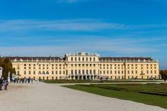10月14日的美泉宫在维也纳, 免版税库存图片