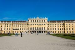 10月14日的美泉宫在维也纳, 免版税库存照片
